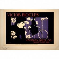 """Afiche estadounidense para """"Victor Bicycles""""."""