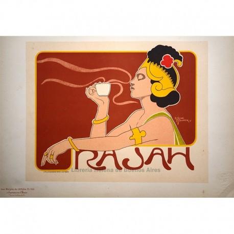 "Afiche belga para el ""Café Rajah"""