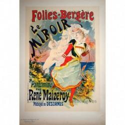 """Afiche para la pantomima de René Maizeroy, """"Le Miroir"""", en el cabaré Folies Bergère."""