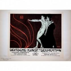 """Afiche alemán para la revista ilustrada mensual """"Deutsche Kunst und Dekoration"""""""