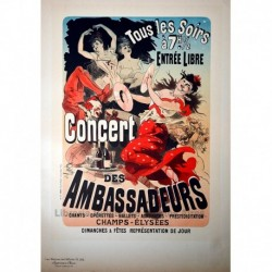 "Afiche para el ""Concert des Ambassadeurs"""