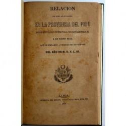 Relación de todo lo sucedido en la provincia del Piru desde que Blasco Nuñez Vela fue enviado por S.M.