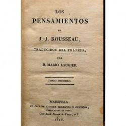 Los pensamientos de J.J. Rousseau.